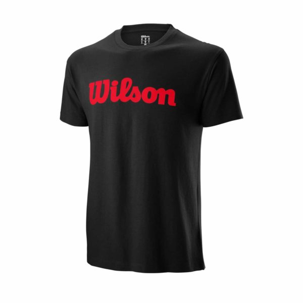 Wilson Men's Spring Script Cotton T-Shirt Black/Red