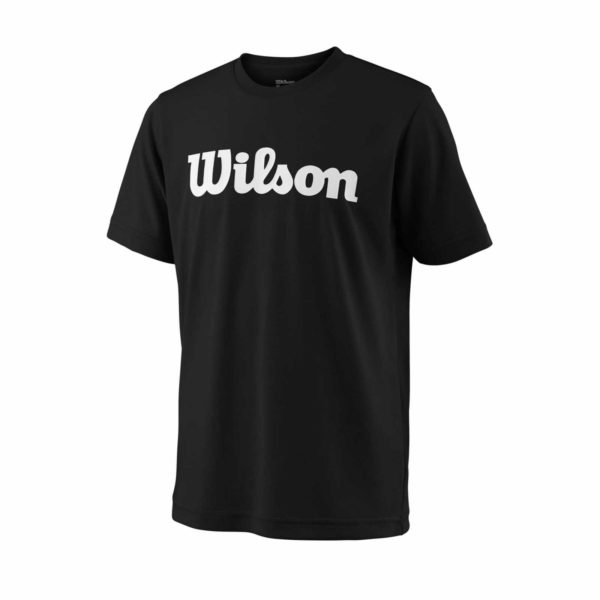 WRA770702-SS18-Team-Y-Team-Script-Tech-Tee-Youth-Black-White-Front